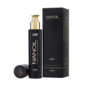olejek do włosów nanoil niskoporowate low porosity